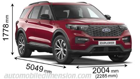 Ford Explorer size