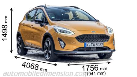 Ford Fiesta Active measures in mm