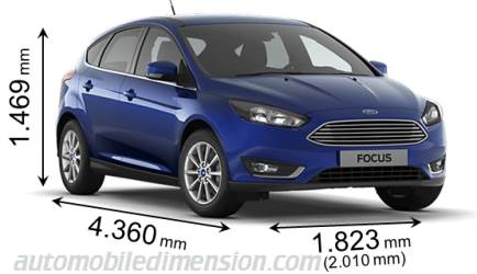 ford focus 2015 dimensions boot space and interior. Black Bedroom Furniture Sets. Home Design Ideas