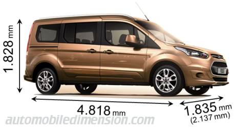 Ford Grand Tourneo Connect Größe
