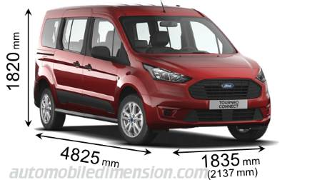Ford Grand Tourneo Connect measures in mm