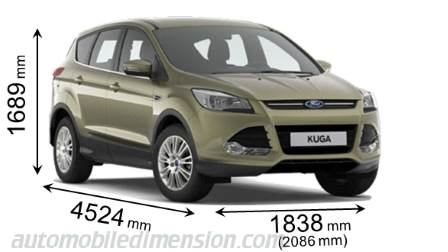 Kuga Dimensions >> Ford Kuga 2013 Dimensions Boot Space And Interior