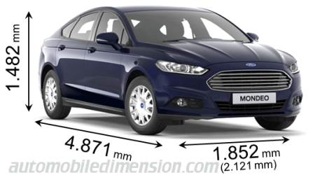 Dimension Ford Mondeo 2015