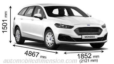 Ford Mondeo Sportbreak measures in mm