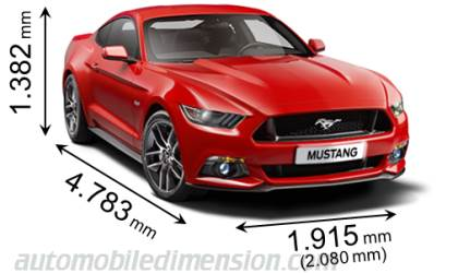 Dimension Ford Mustang 2015