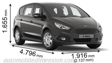 Ford S-MAX measures in mm