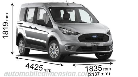 Ford Tourneo Connect 2018 Abmessungen