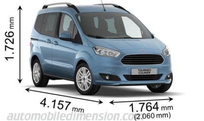 Ford Tourneo Courier Abmessungen