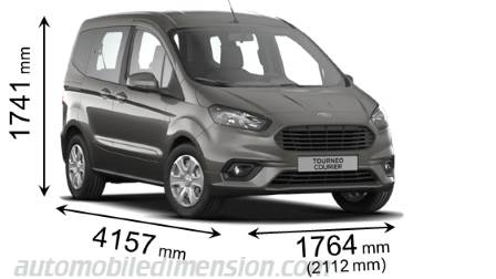 Ford Tourneo Courier dimensions