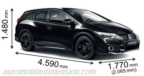 Honda Civic Tourer measures in mm