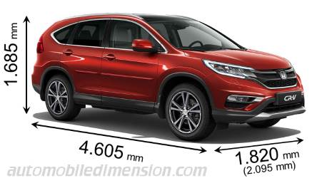 Honda CR-V measures in mm