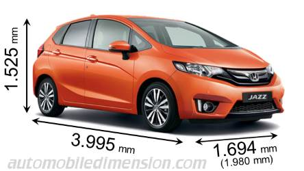 honda jazz 2015 dimensions boot space and interior. Black Bedroom Furniture Sets. Home Design Ideas