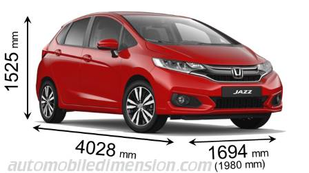 Honda Jazz Measures In Mm