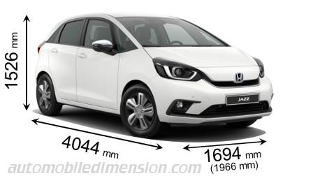 Honda Jazz 2020 dimensions with length, width and height