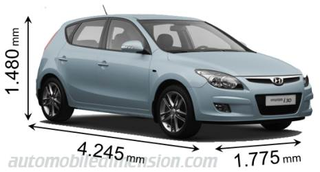 Dimension Hyundai i30 2010
