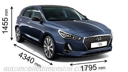 Dimension Hyundai i30 2017