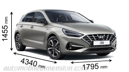 Dimension Hyundai i30 2020