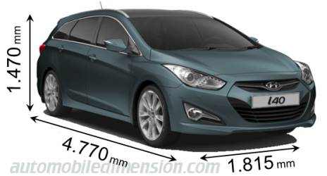 Dimension Hyundai i40 SW 2011
