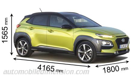 Dimension Hyundai Kona 2018