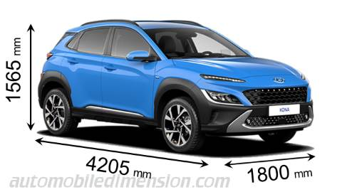 Dimension Hyundai Kona 2021