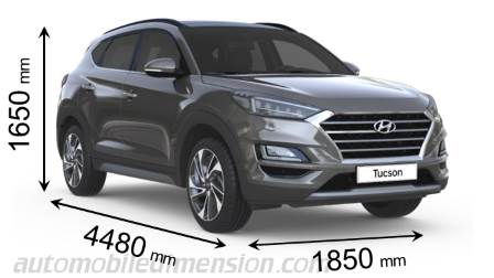 Dimension Hyundai Tucson 2019