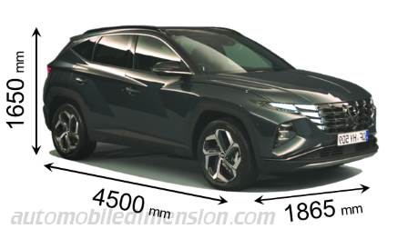 Dimension Hyundai Tucson 2021