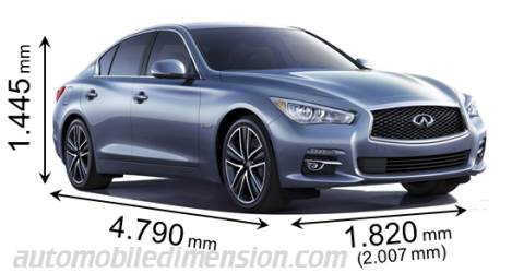 Infiniti Q50 2014 dimensions with length, width and height