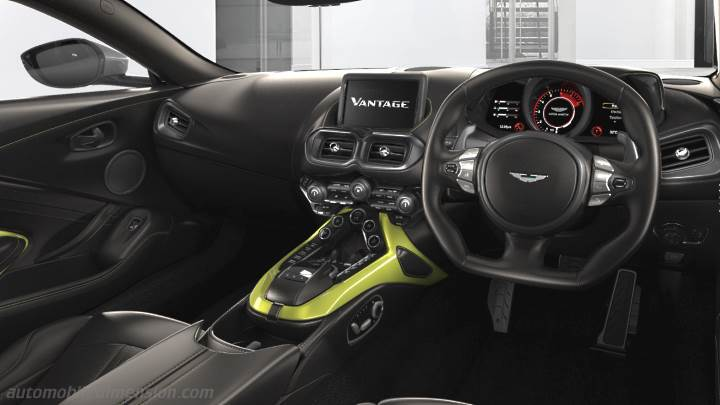 Aston Martin Vantage Coupe 2018 Dimensions Boot Space And