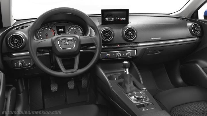 dimensions audi a3 2016 coffre et int rieur. Black Bedroom Furniture Sets. Home Design Ideas