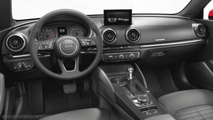 dimensions audi a3 cabrio 2016 coffre et int rieur. Black Bedroom Furniture Sets. Home Design Ideas