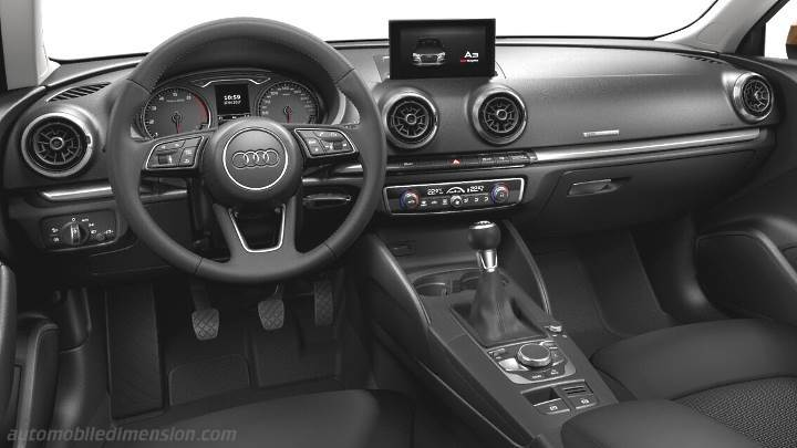dimensions audi a3 sportback 2016 coffre et int rieur. Black Bedroom Furniture Sets. Home Design Ideas