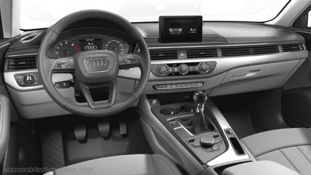 Audi A4 2016 dimensions, boot space and interior