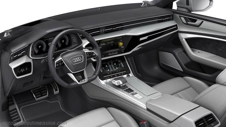 dimensioni audi a7 sportback 2018 bagagliaio e interni. Black Bedroom Furniture Sets. Home Design Ideas