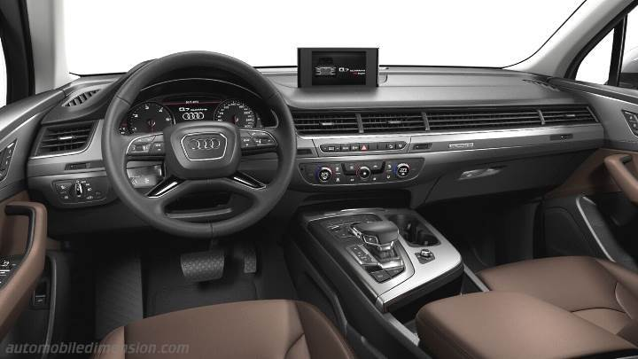 Audi Q7 2015 dimensions, boot space and interior