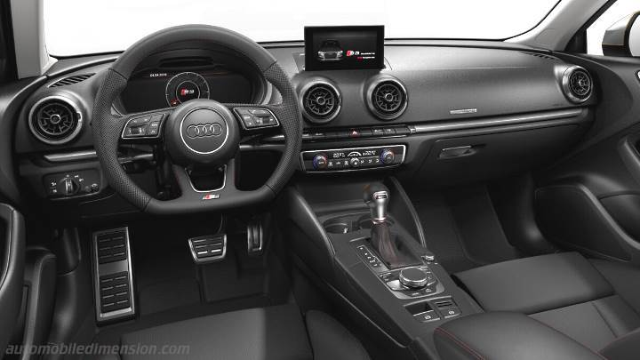 Audi S3 2016 dimensions boot space and interior