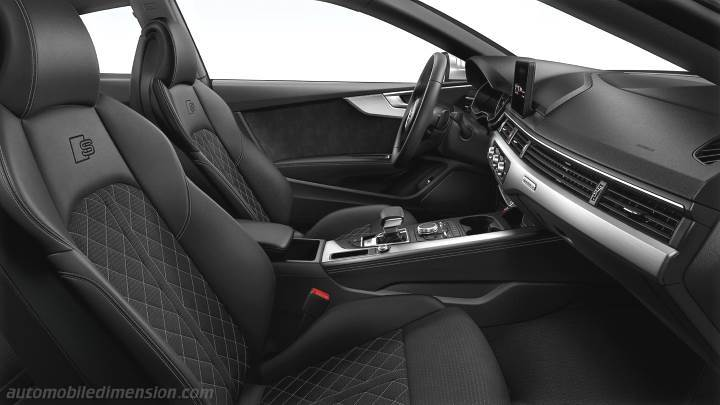 Audi S5 2016 dimensions, boot space and interior