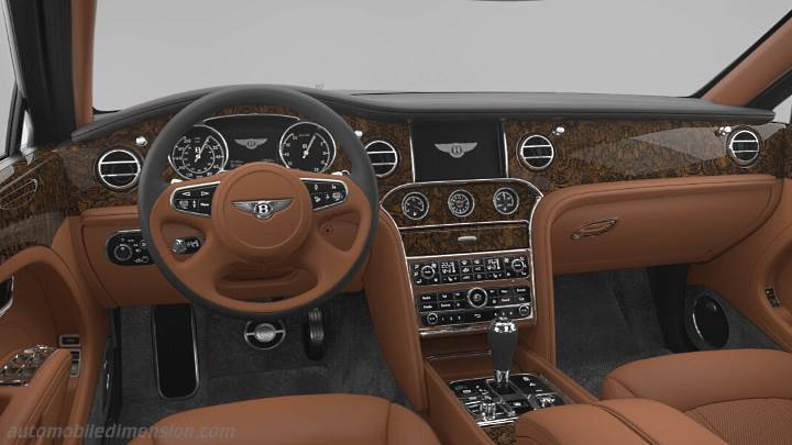 dimensions bentley mulsanne 2016 coffre et int rieur. Black Bedroom Furniture Sets. Home Design Ideas