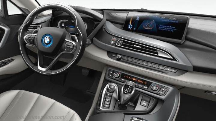 bmw i8 2014 dimensions boot space and interior. Black Bedroom Furniture Sets. Home Design Ideas