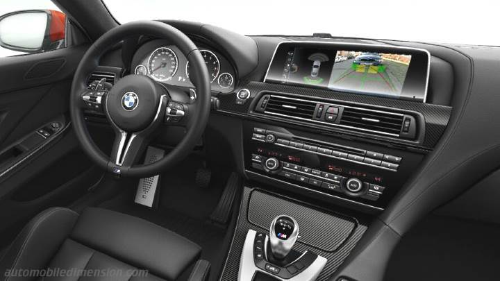 BMW M6 Coupe 2015 dimensions, boot space and interior