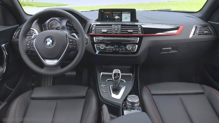 Dimensions bmw 1 2017 coffre et int rieur for Serie 1 interieur