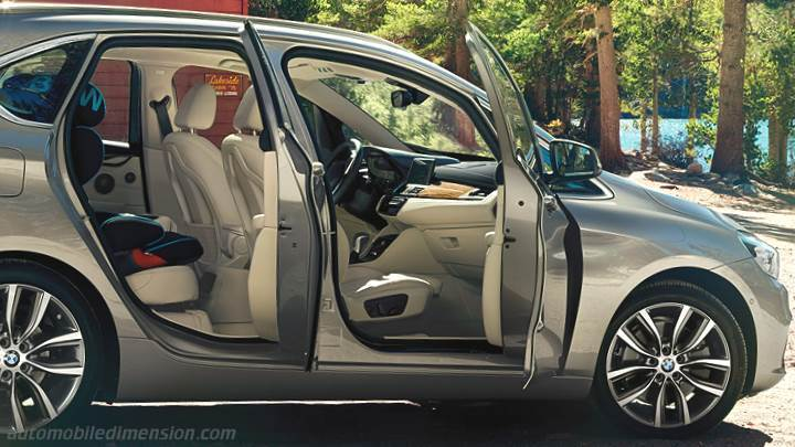 dimensions bmw 2 active tourer 2014 coffre et int rieur. Black Bedroom Furniture Sets. Home Design Ideas