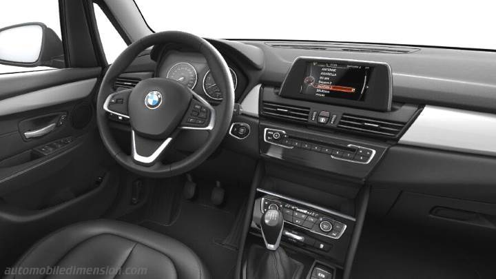 BMW 2 Gran Tourer 2015 dimensions, boot space and interior