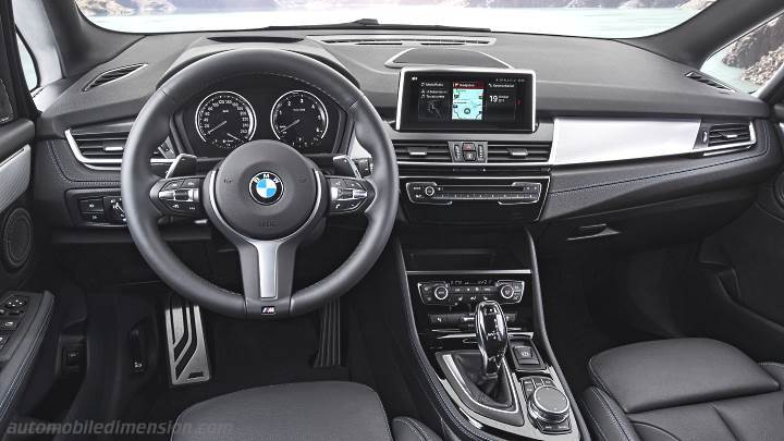 BMW 2 Gran Tourer 2018 dimensions, boot space and interior