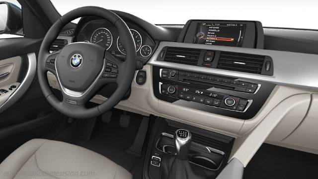 dimensions bmw 3 2015 coffre et int rieur. Black Bedroom Furniture Sets. Home Design Ideas