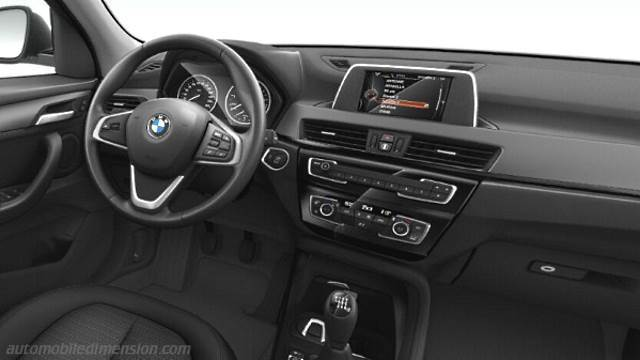 bmw x1 2015 dimensions boot space and interior. Black Bedroom Furniture Sets. Home Design Ideas