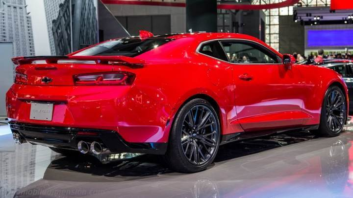 Chevrolet Camaro 2017 Dimensions Boot Space And Interior