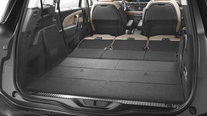 dimensions citroen grand c4 picasso 2016 coffre et int rieur. Black Bedroom Furniture Sets. Home Design Ideas