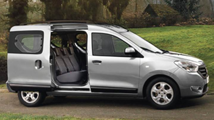 dacia dokker 2013 dimensions boot space and interior. Black Bedroom Furniture Sets. Home Design Ideas