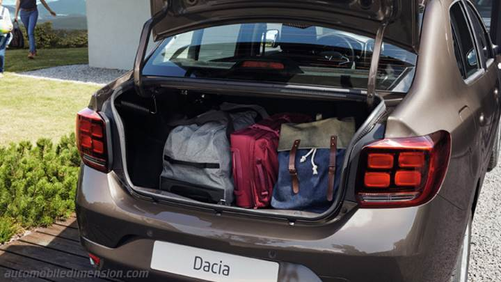 dacia logan 2017 dimensions boot space and interior. Black Bedroom Furniture Sets. Home Design Ideas