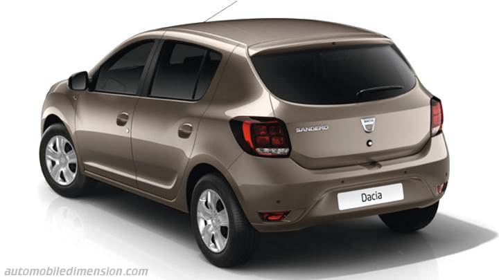 dacia sandero 2017 dimensions boot space and interior. Black Bedroom Furniture Sets. Home Design Ideas